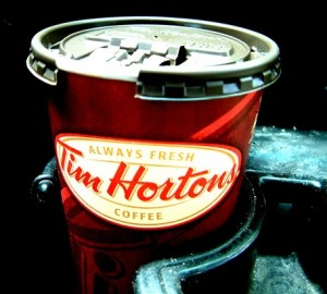 pay it forward coffee at Tim Horton's