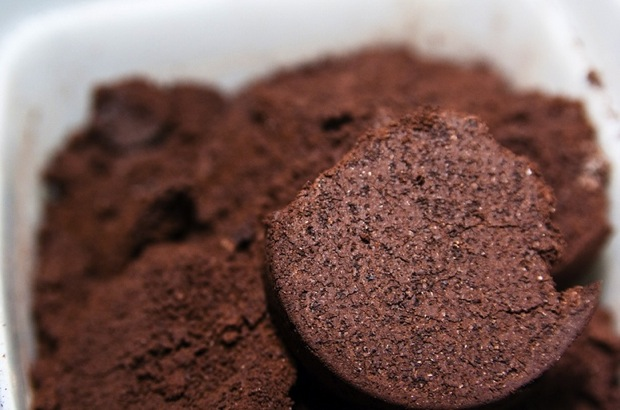 coffee grounds used to make 80 proof spirit