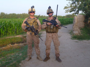 haft and suarez enjoyed coffee in Afghanistan