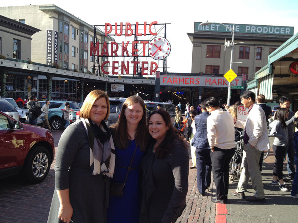 Connie, Kelsey and Jacqueline from Monin at Pike's Place Market