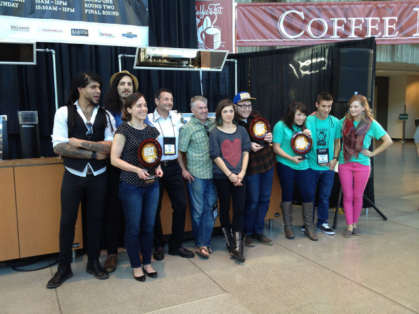 America's Best Coffee House competition finalists: Slate Coffee Roasters, Dog River Coffee, and Caffe Ladro