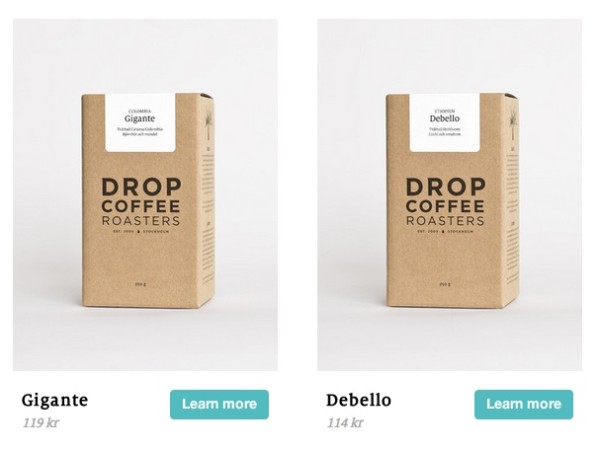 Drop coffee website