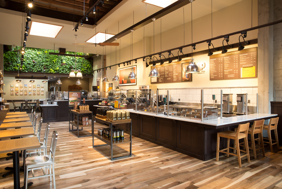 peet's flagship reclaimed materials