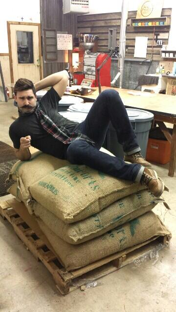 Thou Mayest partner Bo Nelson gets intimate with his coffee.