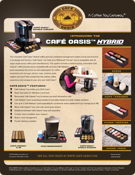 Café Oasis™ Coffee Pod & Condiment Management System to Debut at 2014 International Home + Housewares