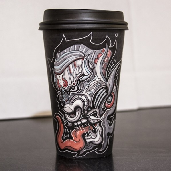 Miguel Cardona's Must-See Coffee Cup Art
