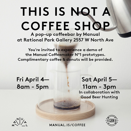 manual brew pop-up bar party chicago
