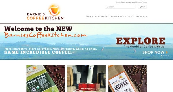 Barnie's CoffeeKitchen Launches New Site to Improve E-Commerce Experience