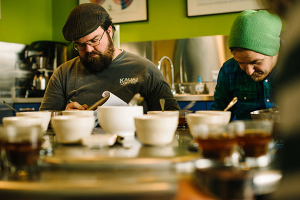 Chris Kornman Intelligentsia coffee cupping