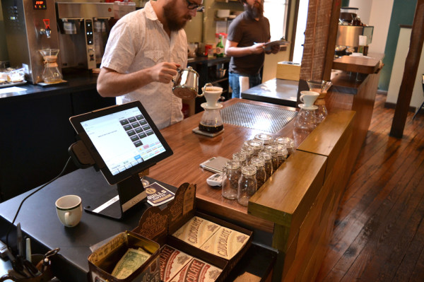 Design Details: From Clunky Case to Pour-Over Bar at Quills Coffee