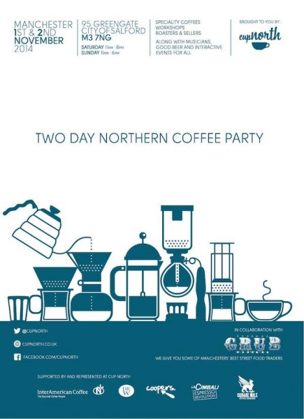Two-Day Coffee Party Cup North Coming to Manchester Nov. 1-2