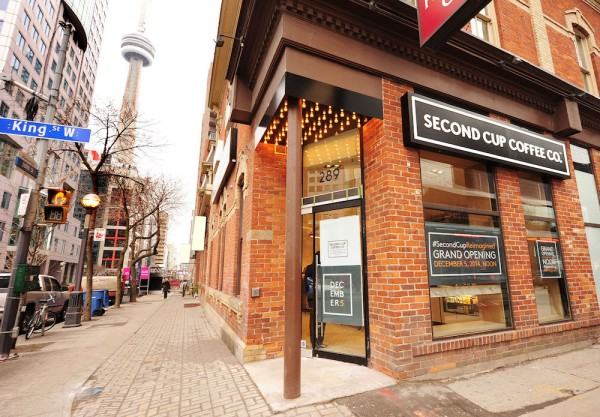 Second Cup Coffee Co at King and John Toronto