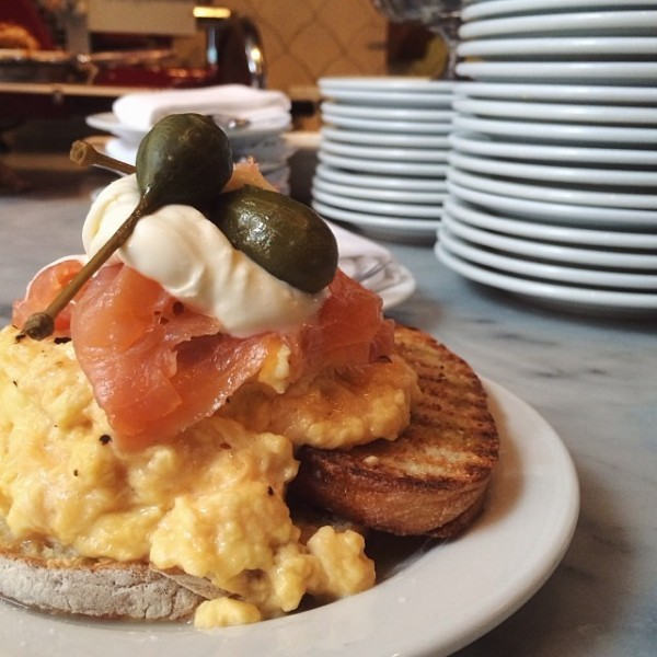 Scrambled eggs at Buvette NYC.