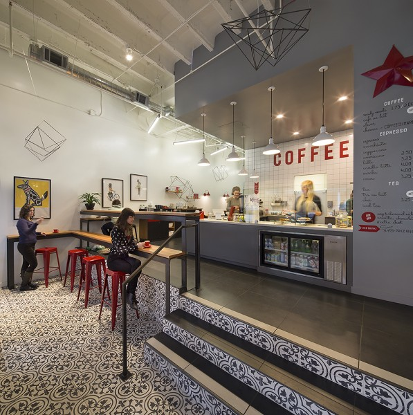 Design Details: Split-Level Comfort at Modern Coffee in Uptown Oakland