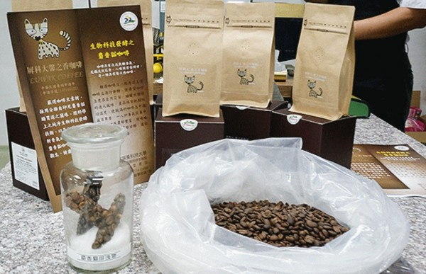The university is roasting and branding the biochemically produced luwak coffee.