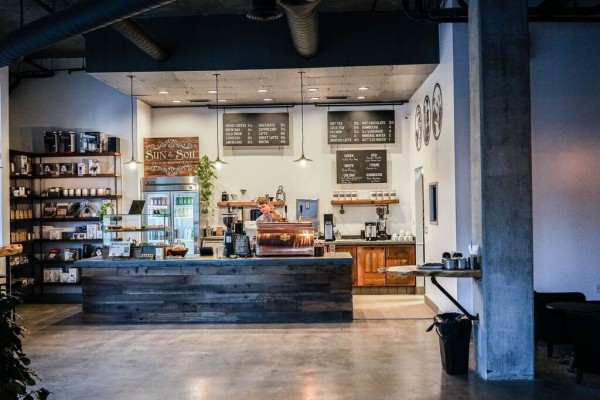 Insight Coffee Roasters at 16 Powerhouse, across from Fremont Park in Sacramento. Photo courtesy of Insight Coffee Roasters.