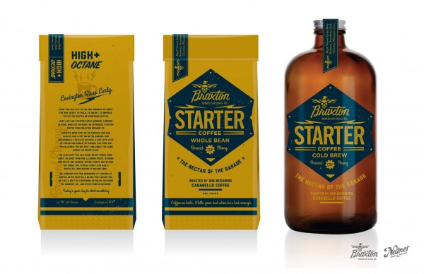 The Starter coffee brand by Braxton Brewing. Image by Neltner Small Batch.