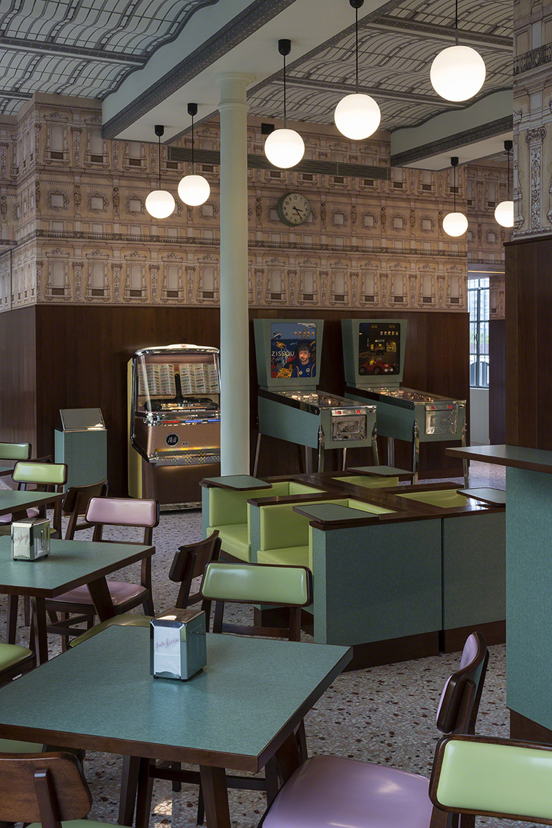 Wes Anderson Bar Luce Milan