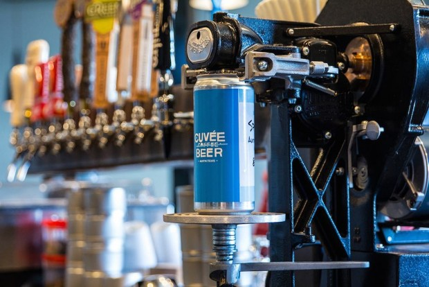 Beer Cans, Controversy and Texas Law at Cuvee Coffee In Austin