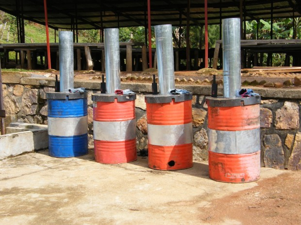 Biochar production kilns in Rwanda