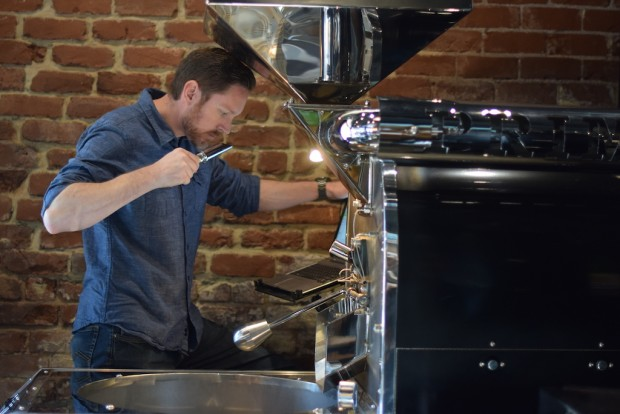 Jeff at the roaster