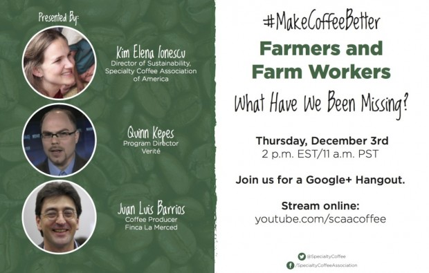 Tune In This Week to a Live Discussion on Coffee Labor