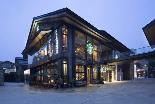 The Starbucks China flagship in Chengdu.