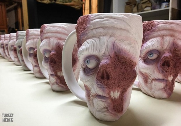 These Hand-Treated Zombie Mugs Are To Die For