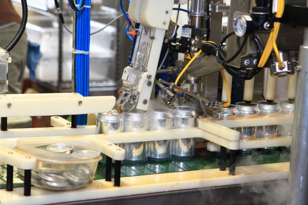 The canning line.