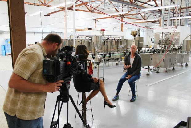 Black Medicine founder Chris Cooper during an interview with a local television news team. Black Medicine photo.