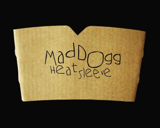 A Maddogg Heat Sleeve with logo.