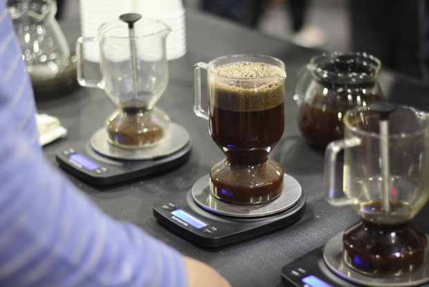 The Rattleware cupping brewer. Nick Brown photo.