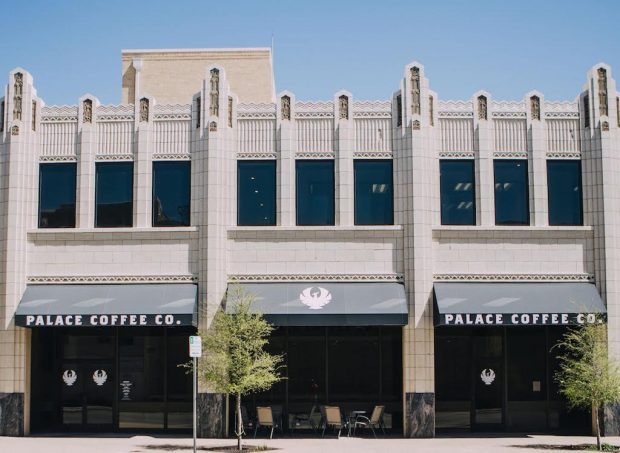 The downtown Amarillo Palace Coffee location at the Paramount.