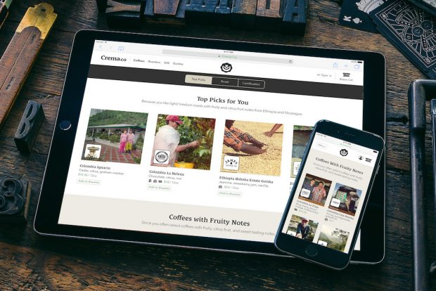 "Crema.co Coffee Marketplace Introduces ""Coffee Personality"" Analysis System"