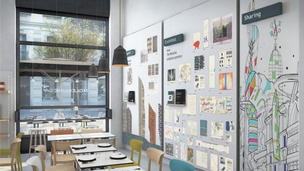 The Moleskine Café in Milan. Photo by Michele Morosi.