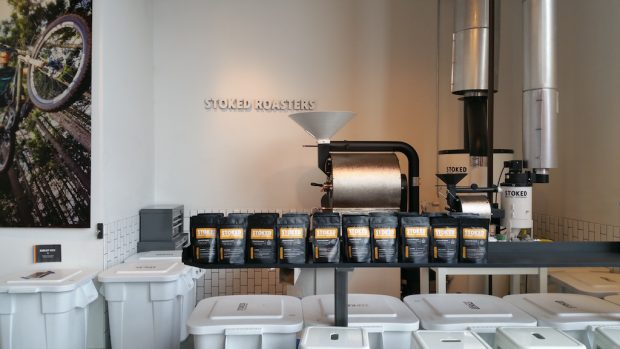 The Stoked roastery in Hood River, Ore. All images courtesy of Stoked Roasters.