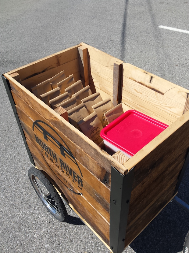The North River Roasters coffee delivery cart. All photos courtesy of North River Roasters.