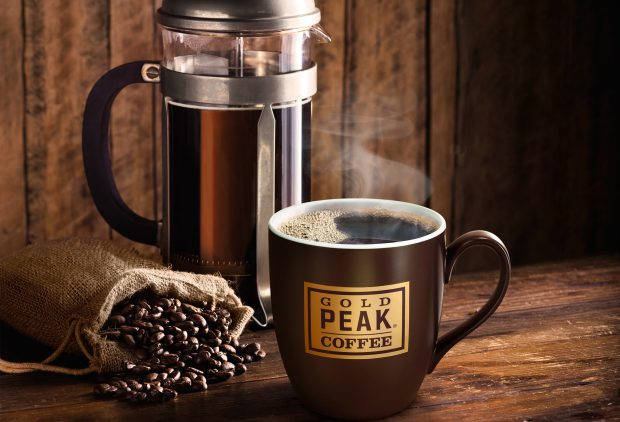 Gold Peak Beverages photo from the hot coffee line. Product images of the new RTD products have not yet been unveiled.