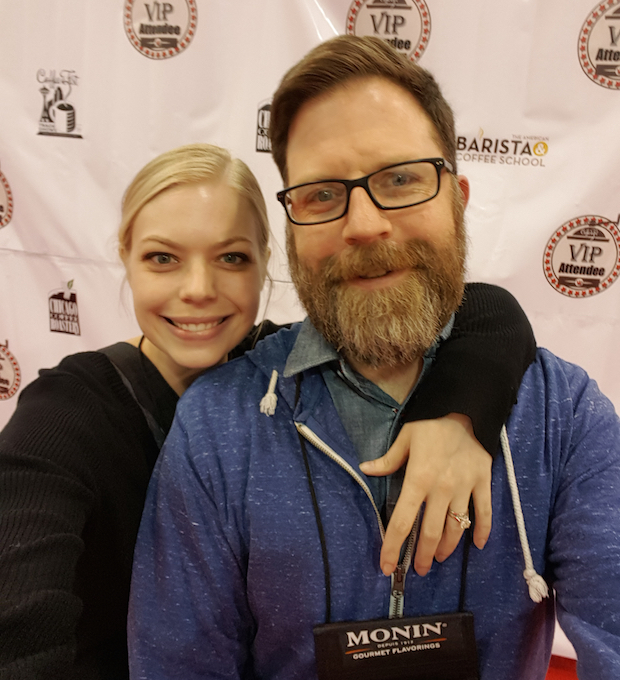 Mike and Suzanne at Coffee Fest Chicago.