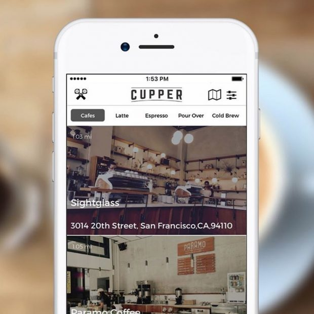 The Cupper app.
