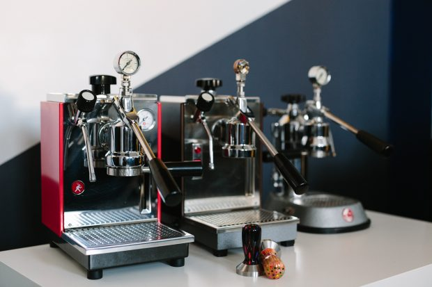 Olympia and Pavoni machines with manometer attachment.