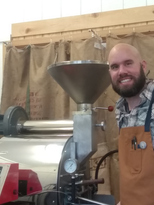 Ian Duncan at The Grind roastery.