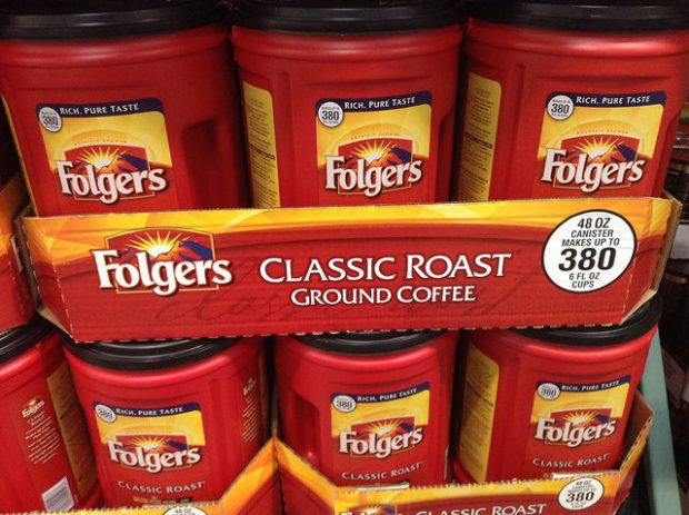 Folgers Coffee by Mike Mozart. Creative Commons license.