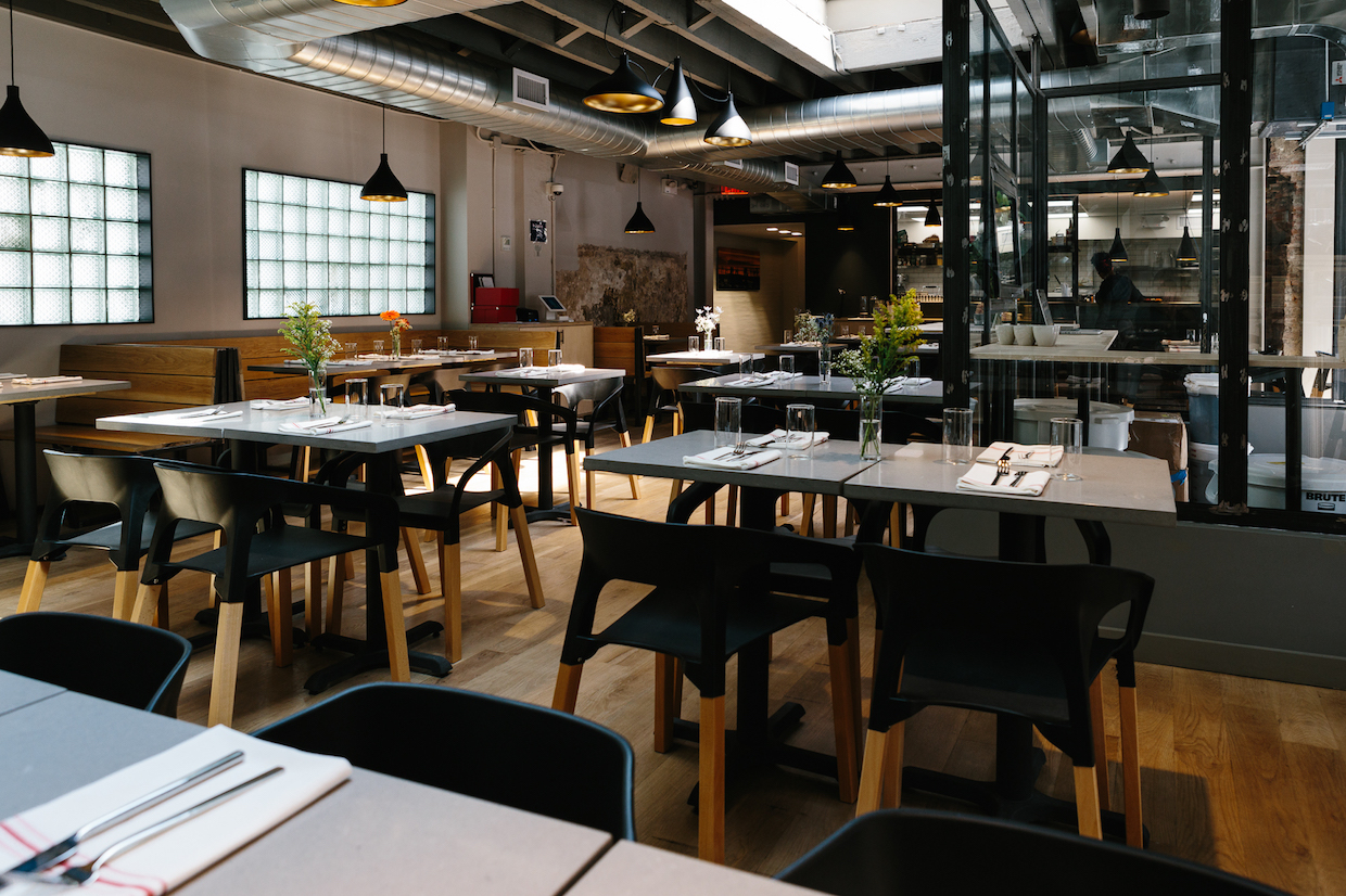 The dining room. East One Coffee Roasters photo by Ethan Covey.