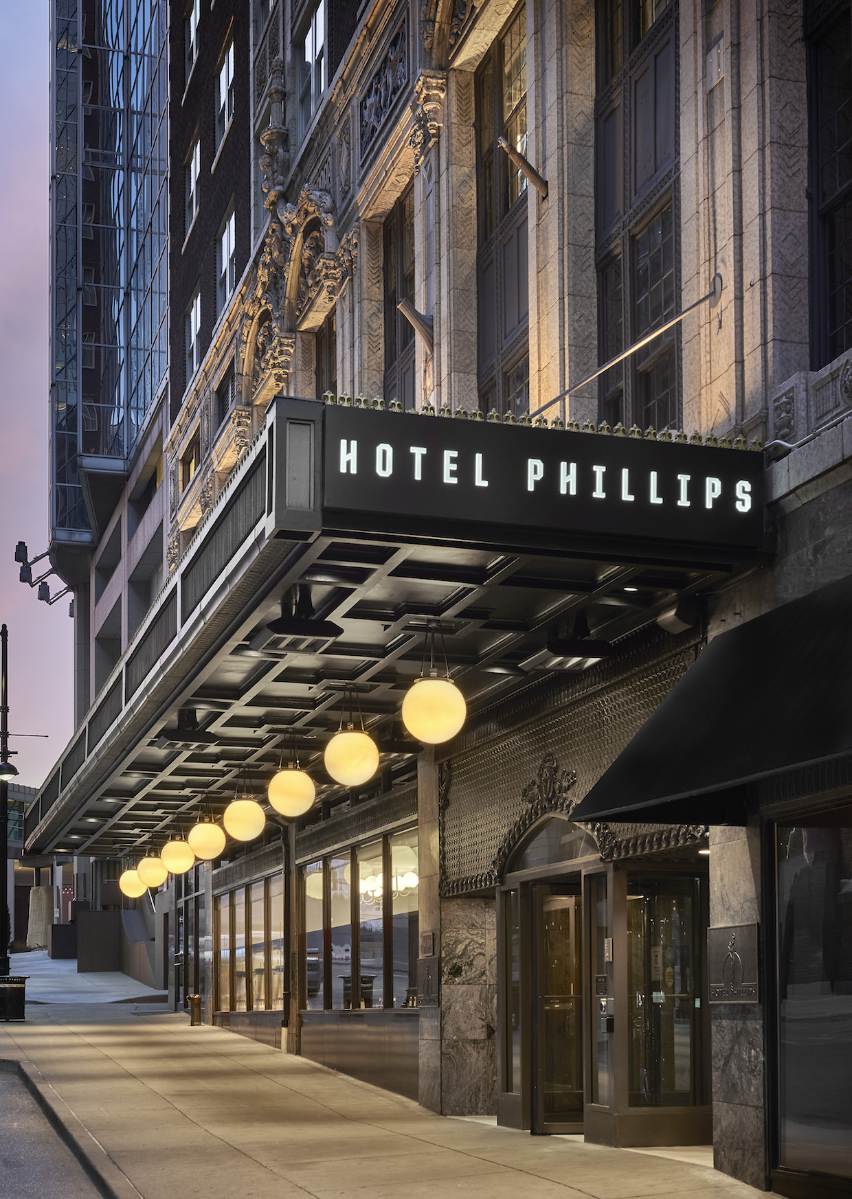 Hotel Phillips in downtown Kansas City, Mo. All photos courtesy of Arbor Lodging Partners.