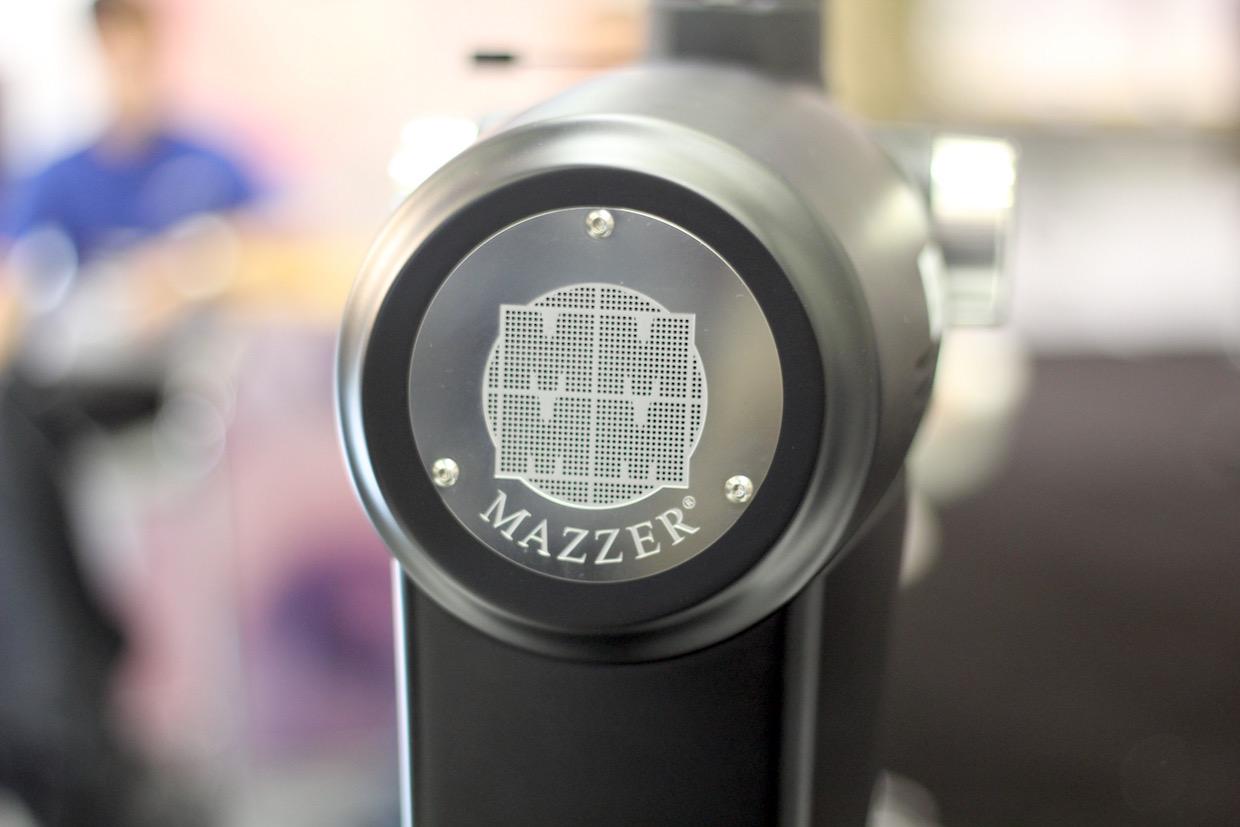 Mazzer ZM back plate. Daily Coffee News photo.