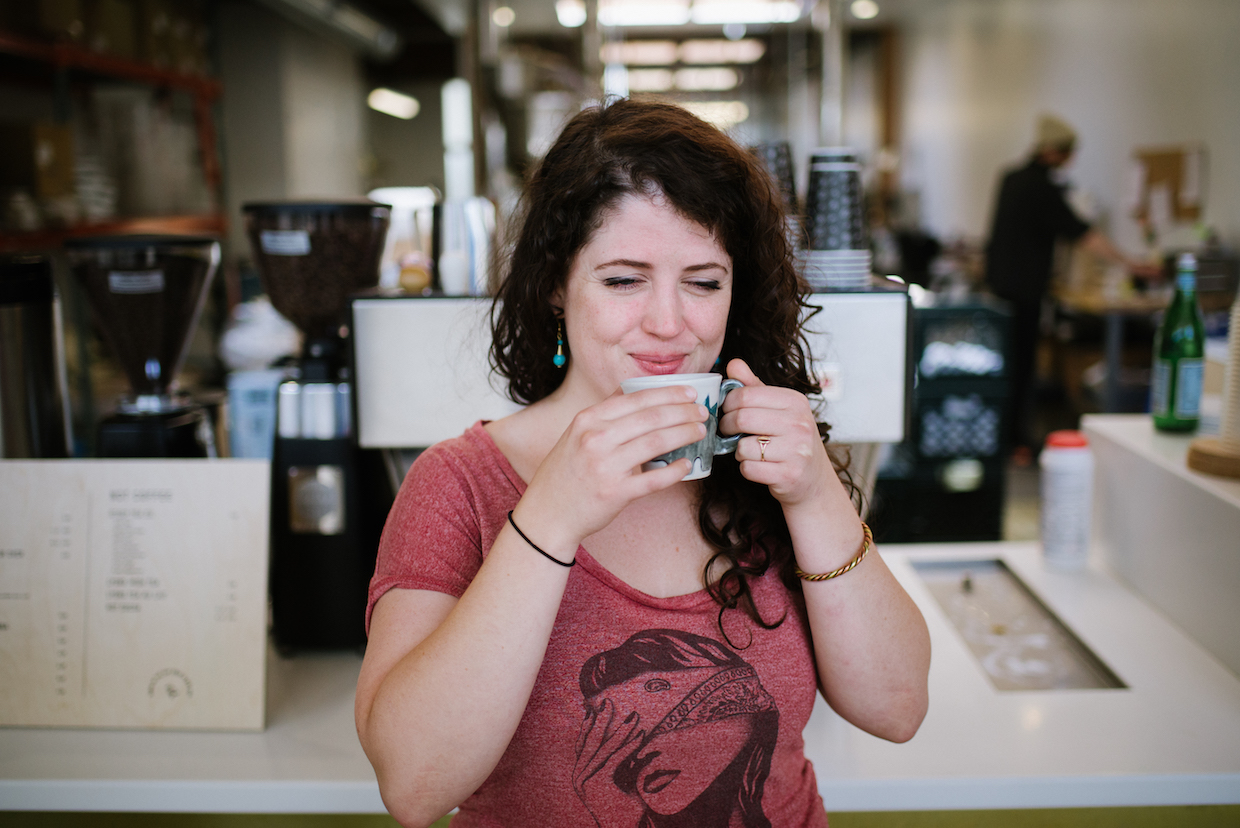 Roaster Sandra Elisa Loofbourow, featured in MCP's third release. Photo by Lindsey Shea.