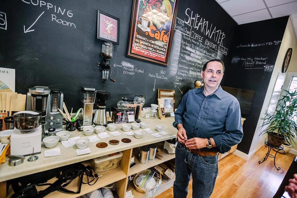Shearwater Coffee Roasters Founder Ed Freedman at the roastery tasting room. Shearwater Coffee Roasters photo.