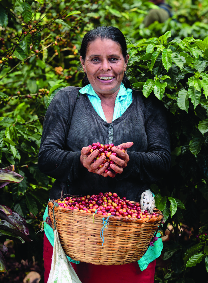"María del Socorro López López, 43, another co ee picker at La Revancha, says, ""I have worked here 10 years. With the Fair Trade Committee, we will get a better wage for our work. We are being trained to do our work better."""