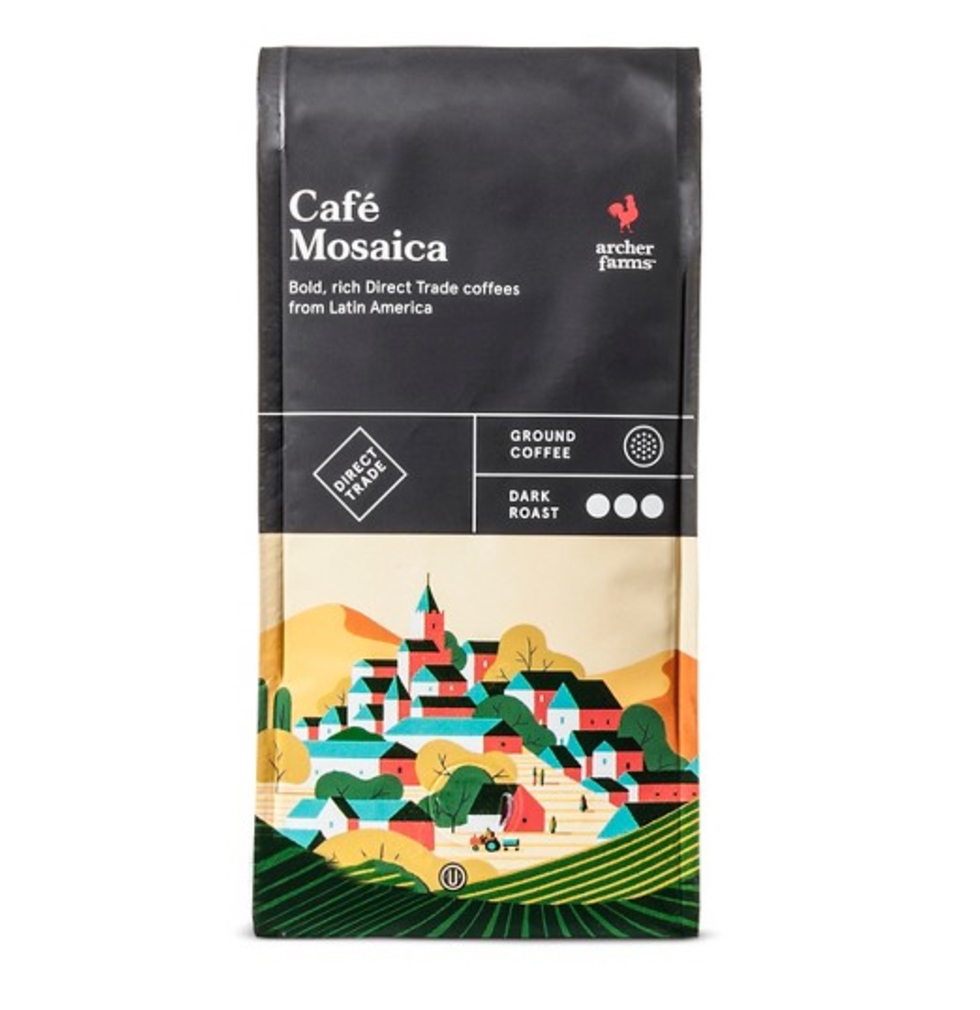 """An Archer Farms brand Latin American blend labeled as """"direct trade."""""""